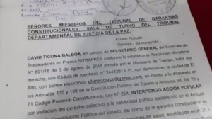 Modelo de Demanda De Acción Popular Bolivia