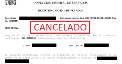 Cancelación de Antecedentes Penales